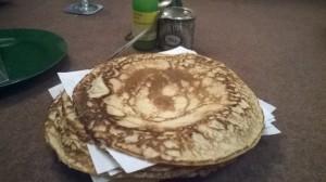 Pile of pancakes.